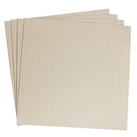 15.75 X 15.75 White Construction Base Plates - Bundle - Compatible with All Major Brands
