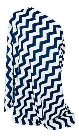 Multi-Use Baby Breastfeeding Infinity Nursing Cover / Nursing Scarf - Tykes & Tails Navy Blue / White Chevron Pattern - Many Colors and Patterns of Premium Breastfeeding Covers