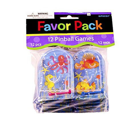 Amscan Fun-Filled Mini Underwater Friends Pocket Pinball Game , Multicolor, 2