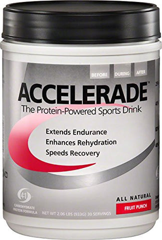 Pacific Health  Accelerade, Fruit Punch, Net Wt. 2.06 lb., 30 serving