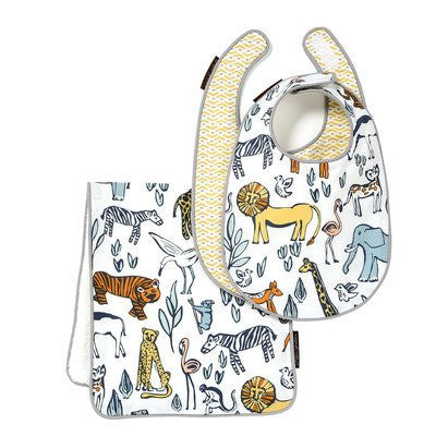 DwellStudio Bib and Burp Set, Safari