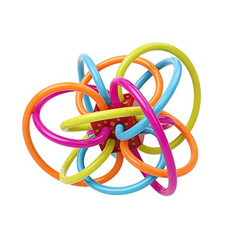 Alytimes 4.5 Diameter Rattle and Sensory Teether Activity Toy