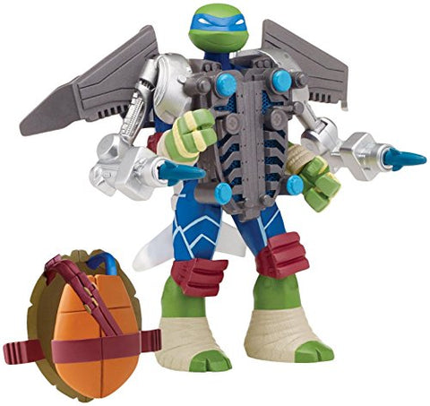 Teenage Mutant Ninja Turtles Mutations Leonardo with Aerial Attack Battle Shell Action Figure