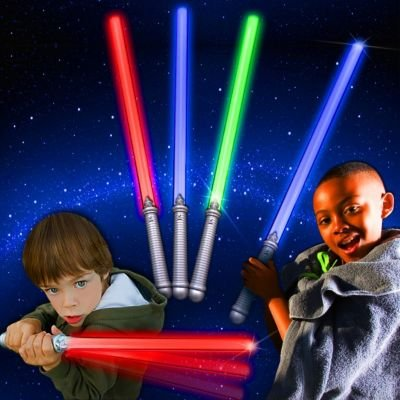 LED Assorted Colors Glow in the Dark Kids Light Sabers  Bulk