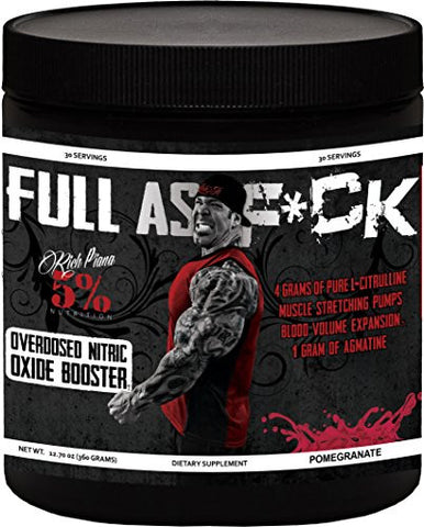 Rich Piana 5% Nutrition Full as F*ck Pomegranate 12.70 oz (360 grams)