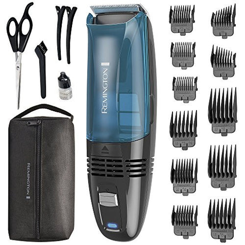 Remington HC6550 Cordless Vacuum Haircut Kit, Vacuum Trimmer, Hair Clippers, Hair Trimmer, Clippers