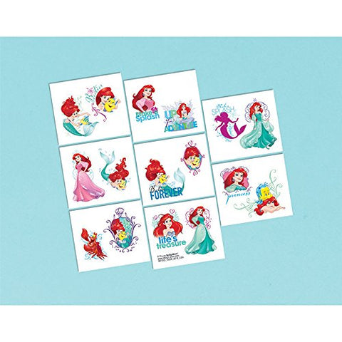 Little Mermaid Tattoo Favors  - Party Supplies