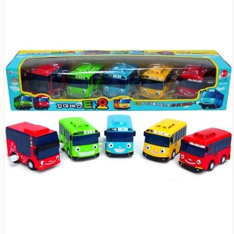Tayo Little Bus Wind Up Toys, 5 Pieces (Tayo, Rogi, Gani, Rani, and Cito)