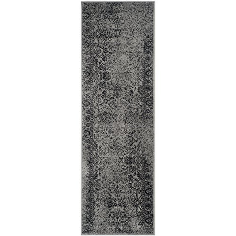 Safavieh Adirondack Collection ADR109B Grey and Black Oriental Vintage Distressed Runner (2'6  x 8')
