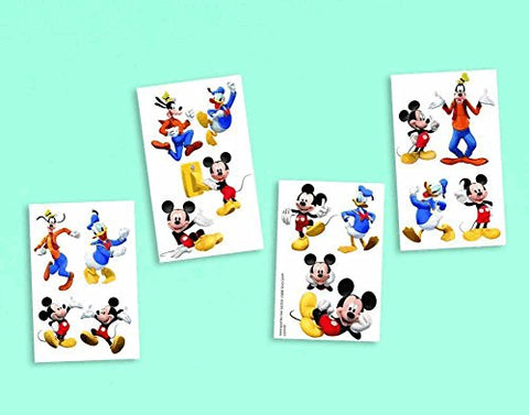 Disney Mickey Mouse Birthday Party Temporary Tattoos Favour, Multi , 2 X 2, Paper