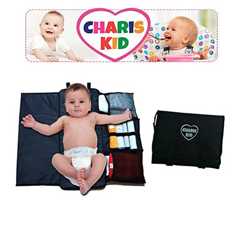 Charis Kid Portable Diaper Changing Pad – Quick and Easy – Compact and Comfortable Changing Mat - Keep Your Baby Clean and Happy, and more sleep for You