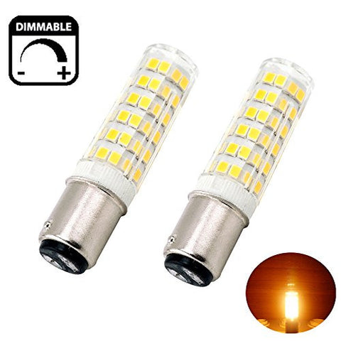 Bonlux 6W Dimmable Ba15d Double Contact Bayonet Base LED Bulb 120 Volts Warm White JD Type Ba15d 50W T4 Halogen Replacement Bulb for Chandelier Crystal Ceiling Lamp Light