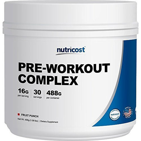 Nutricost Pre-Workout Complex (Fruit Punch) 30 Servings