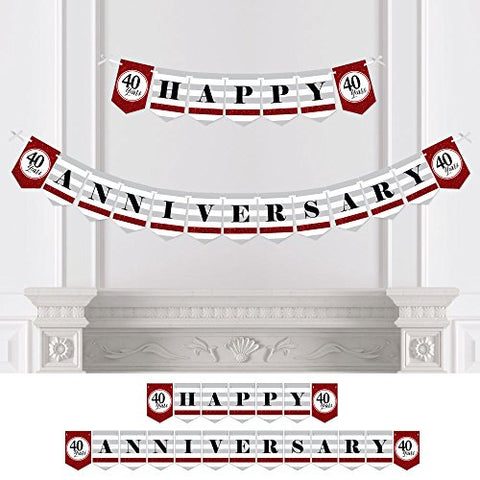 We Still Do - 40th Wedding Anniversary Party Bunting Banner - Happy Anniversary
