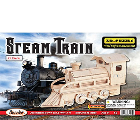 Puzzled Steam Train 3D Jigsaw Woodcraft Kit Wooden Puzzle