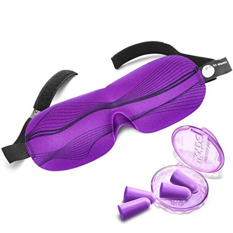 Best Sleep Mask by Drift to Sleep with 2 Pairs Soft Foam Ear Plugs Patented Eye Mask Wake Up Completely Refreshed