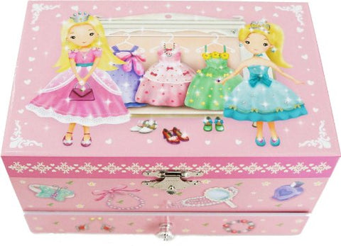 Lily & Ally / Princess Musical Jewelry Box, with Melody of Over the Rainbow