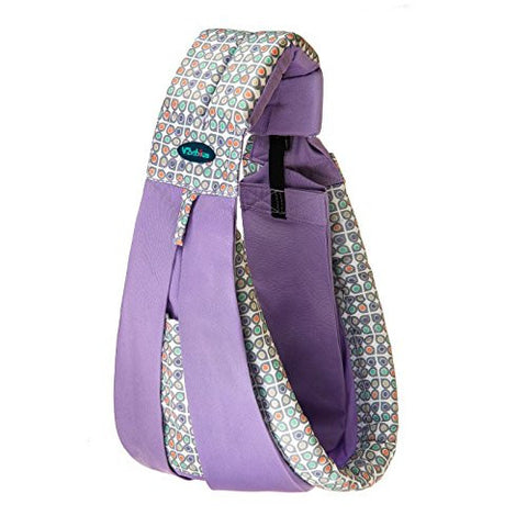 Vrbabies Cotton Baby Slings and Wraps Carrier for Newborns and Breastfeeding (Geometric Purple)