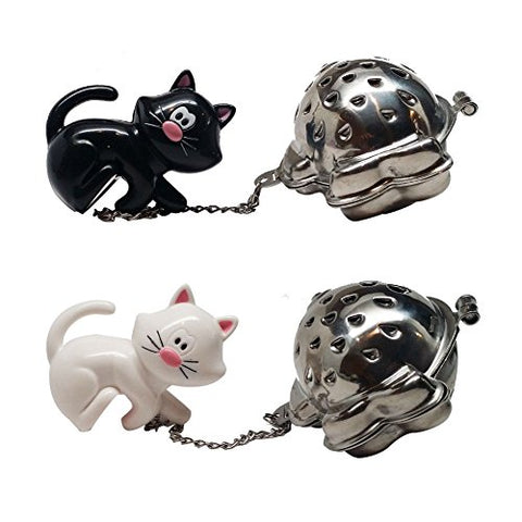 Joie Black and White Meow Tea Infuser
