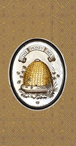 Ideal Home Range BF737700 16 Count The Honey Bee Lori Siebert Paper Guest Towels, Multicolor