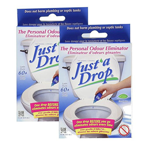 Just A Drop - Natural Toilet Odor Eliminator - Eucalyptus - 15 mL - 2 count
