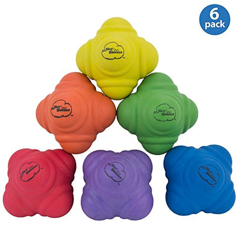 Sky Bounce Reaction Balls for Agility and Coordination Training 72mm Size (Assorted Color Balls)
