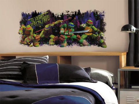 Roommates Rmk2326Gm Tmnt Turtle Trouble Graphix Peel And Stick Wall Decals