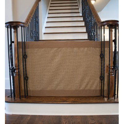 Stair Barrier Banister To Banister Signature Gate - Size: 32 H x 36 - 42 W, Mocha, Regular
