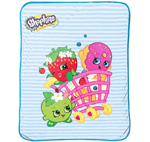 Shopkins 'Shopping Cart Fun' Fleece Plush Throw