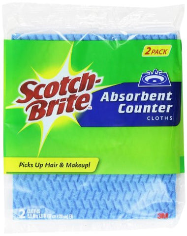Scotch-Brite Absorbant Vanity Cloth, 2-Count