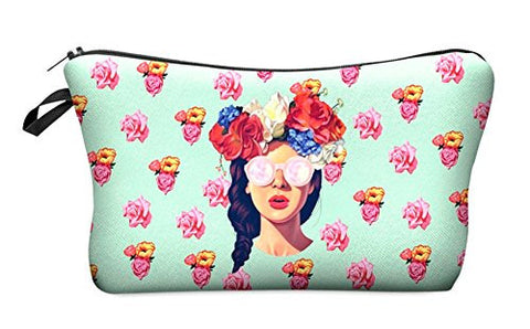 StylesILove Cute Graphic Pouch Travel Case Cosmetic Makeup Bag (Hipster Girl )