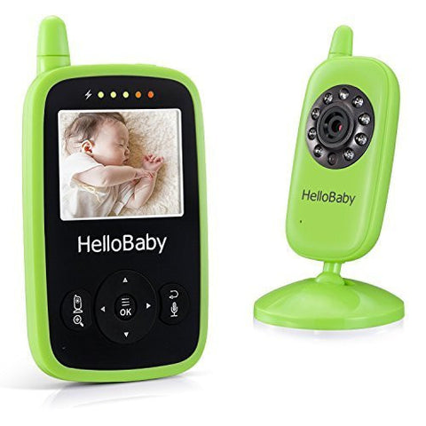 Portable Video Baby Monitor Night Vision Smart Camera with Temperature Monitors Hello Baby HB24