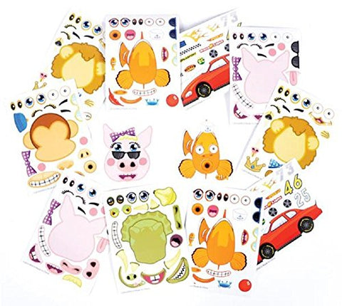 Make Your Own Sticker - 96 Stickers Assortment, includes: Zoo Animals, Cars, Sea Creature, And More - For Kids, Arts, Parties, Birthdays, Party Favors, Gifts, Crafts, School, Daycare, Etc. - Kidsco