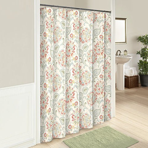 Marble Hill 16248SHWR072BAS Carlisle 72-Inch by 72-Inch Shower Curtain, Basil