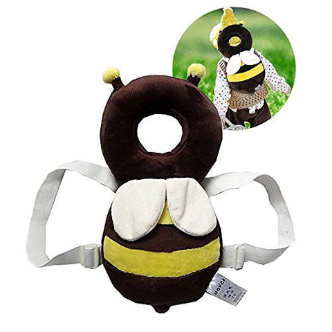 [KuYou] Baby Toddlers Head Protective , Adjustable Infant Safety Pads For Baby Walkers Protective Head and Shoulder Protector Prevent Head Injured Suitable Age 4-12 Months,Ladybugs (Yellow +White)