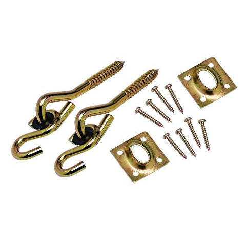 Backto20s® Swing Hardware : Set of Two Screw Hook Anchors with Pulley Hangers for Wooden Frame / Ceiling