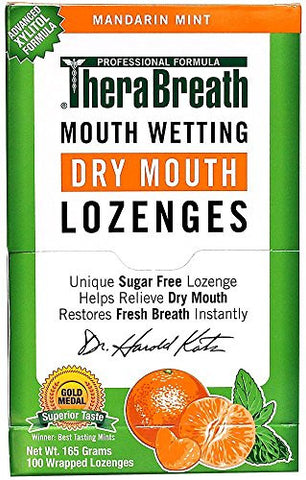 TheraBreath Mouth Wetting Lozenges, Mandarin Mint (100 ea)