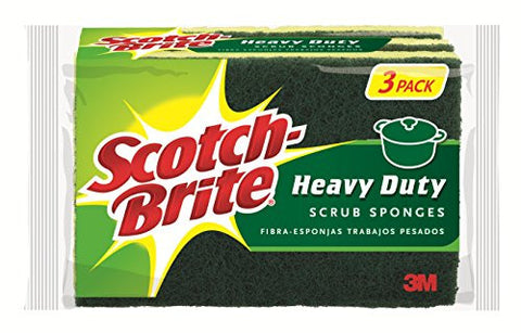 Scotch-Brite Scrub Sponge, Heavy Duty, 3-Count