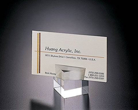 Acrylic Lucite Set of 2 Cube Place Card or business card holder