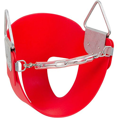 Swing Set Stuff Half Bucket Seat with SSS Logo Sticker, Red