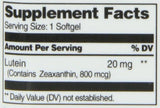 21st Century Lutein 20 mg Softgels, 60 Count