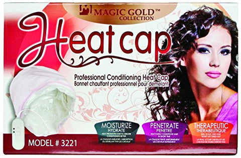 Magic Gold Collection Heat Cap, Moisturizer, moisturize, penetrate, therapeutic, hair won't dry, hair absorbs confitioners better, heat evenly conditions hair