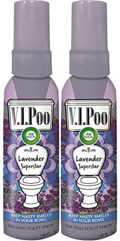 Air Wick V.I.POO Pre-Poo Toilet Spray VALUE PACK, Lavender Superstar, 1.85 oz