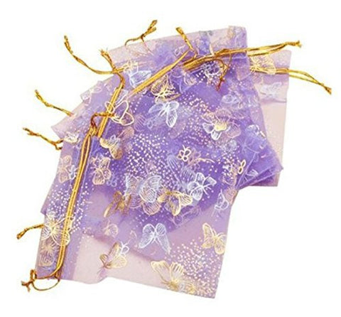 A&S Creavention® Holiday Design Organza Drawstring Jewelry Pouches Bag 4x5