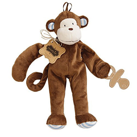 Mud Pie Pacifier Cuddler, Monkey