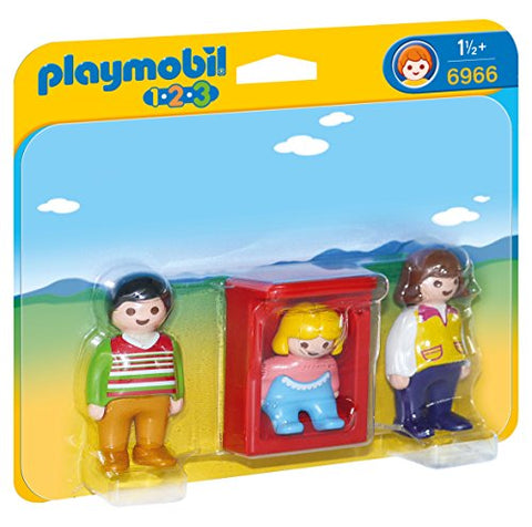 PLAYMOBIL Parents with Baby Cradle