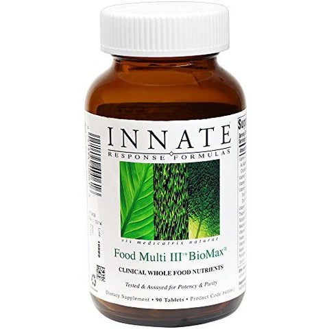INNATE Response Formulas - Food Multi III BioMax, Herb Free Foundational Multivitamin, 90 Tablets