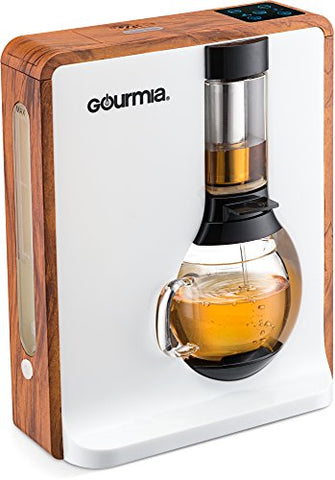Gourmia GTC8000 Electric Square Tea Maker Loose Leaf Tea Infuser & Brewer With iTEA BOIL TO BREW TECHNOLOGY Includes 3 Brew Settings (Light, Medium & Strong) Great For White, Green, Oolong & Black Tea
