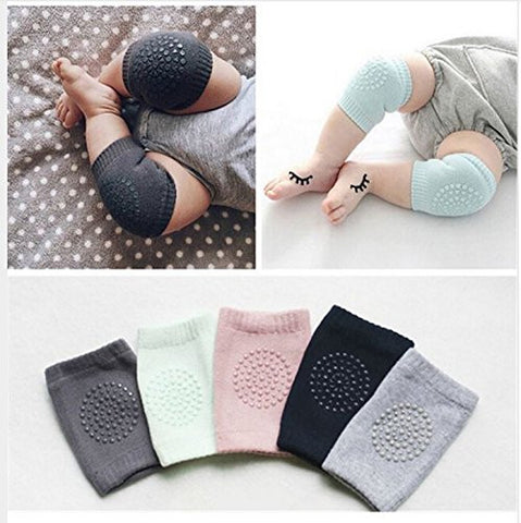 5 pairs Breathable Elastic Unisex Infant Toddler Baby Knee Arm Pads Baby Knee Elbow Pads Crawling Safety Protector Baby Use BONUS!!! Special FBA Free Baby Socks 1 Piece 12-24 months Random Color