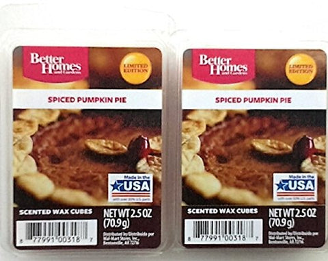 Baked Pumpkin Pie Scented Wax Cubes  Two (2) Packs (2.5 oz each)